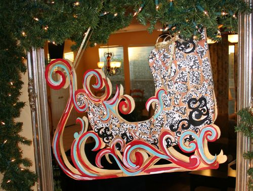 Holiday christmas sleigh diy project  idea 3 catalina calderon