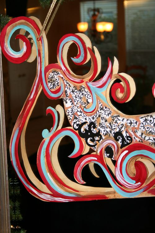 Holiday christmas sleigh diy project  idea 2catalina calderon