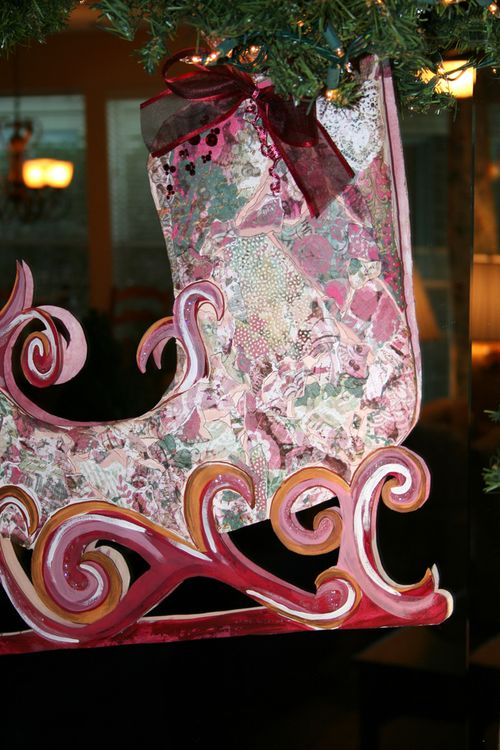Holiday christmas sleigh diy project  idea 6 catalina calderon