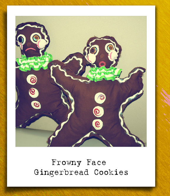 Fabric art Gingerbread cookies web