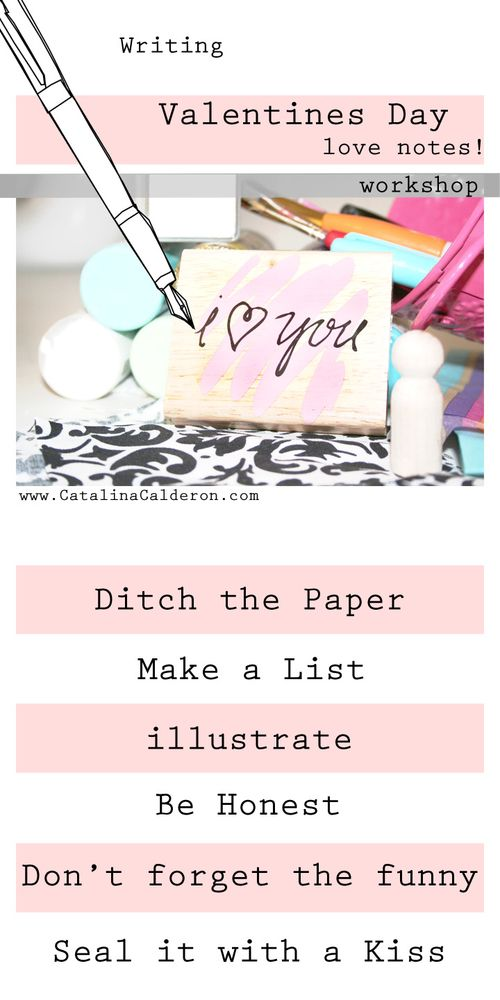 How to write a love letter- Have a Crafty Valentines Day!